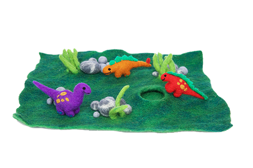 Felt play mats with cave (small) - Forest or Ocean-mats-Rainbows and Clover-forest floor-Rainbows and Clover