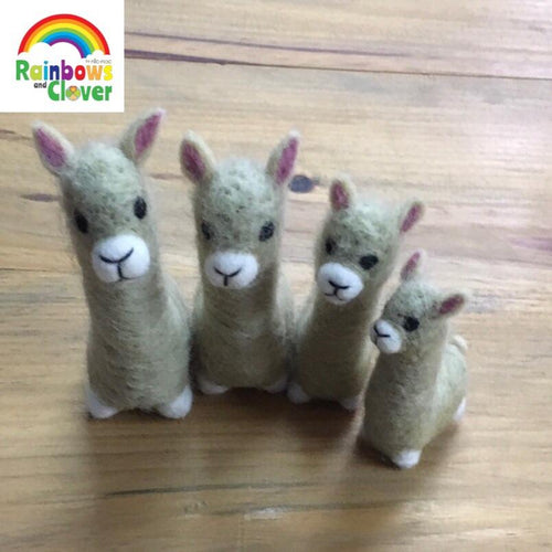 Llama family of four-Llama-Rainbows and Clover-Rainbows and Clover