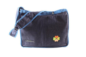 nic-nac : carry-all baby bag-carry-all-Rainbows and Clover-blueberry spot-Rainbows and Clover