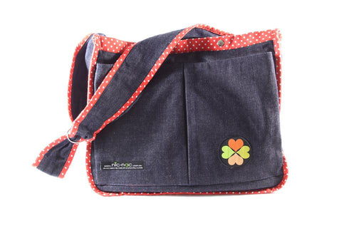 nic-nac : carry-all baby bag-carry-all-Rainbows and Clover-poppy dot-Rainbows and Clover