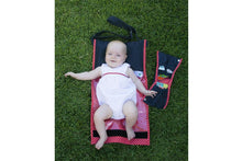 Load image into Gallery viewer, nic-nac : nappywrap nappy bag & change mat in one-nappywrap-Rainbows and Clover-poppy dot-Rainbows and Clover