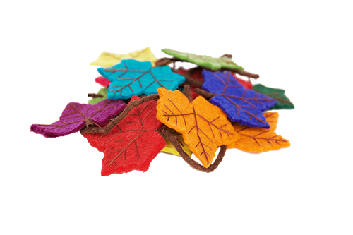 Rainbow flame tree leaf felt garland-garland-Rainbows and Clover-Rainbows and Clover