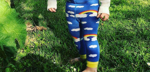 Slugs & Snails Organic Footless Tights - Rainbows-tights-Slugs & Snails-12-18 months (74-80cm)-Rainbows and Clover