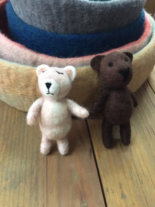 Small Felt Teddy Bear-Animals-Rainbows and Clover-Rainbows and Clover