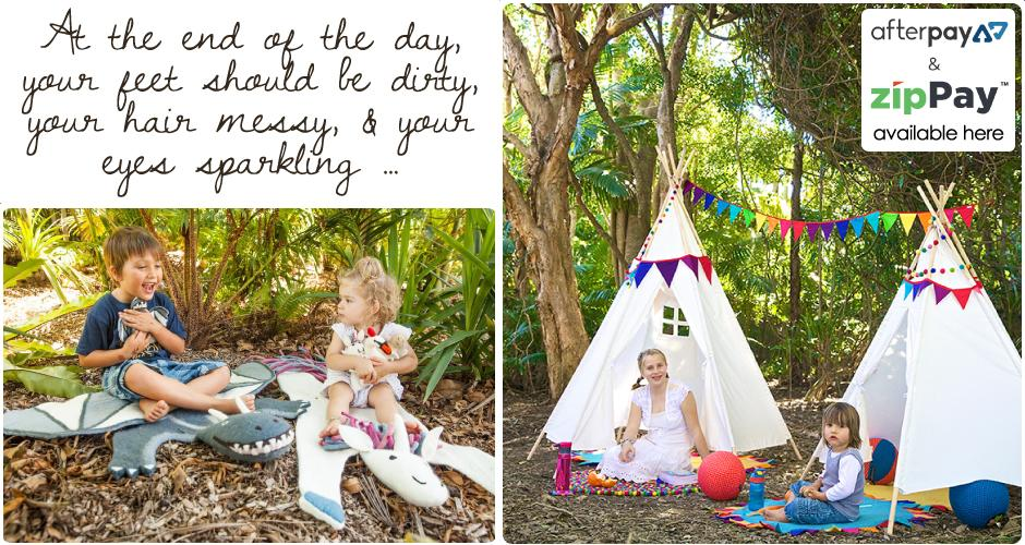 rainbows and clover relaxing spaces outdoor kids teepee fresh air