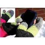 Kyber Crochet w/ Stripes Texting Mittens
