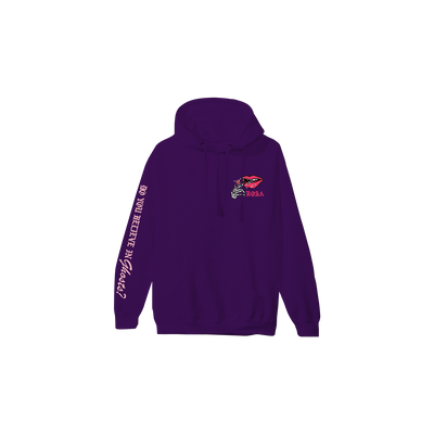 Skeleton Lips Hoodie - Purple