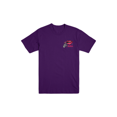 Skeleton Lips Tee - Purple