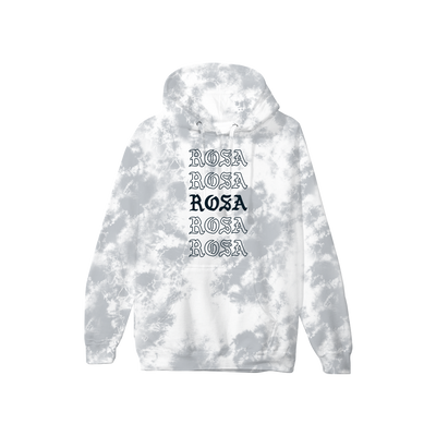 Rosa Repeating Hoodie - Grey Crystal