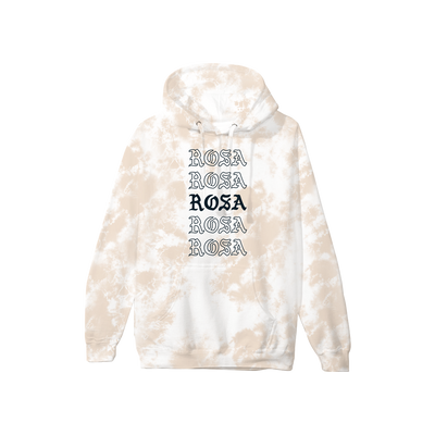 Rosa Repeating Hoodie - Tan Crystal