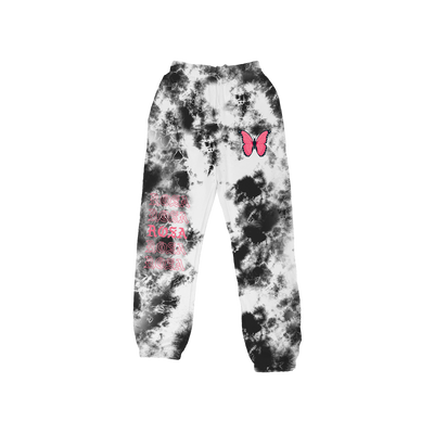 Rosa Repeating Sweatpants - Black Crystal