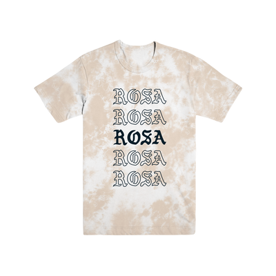 Rosa Repeating Tee - Tan Crystal