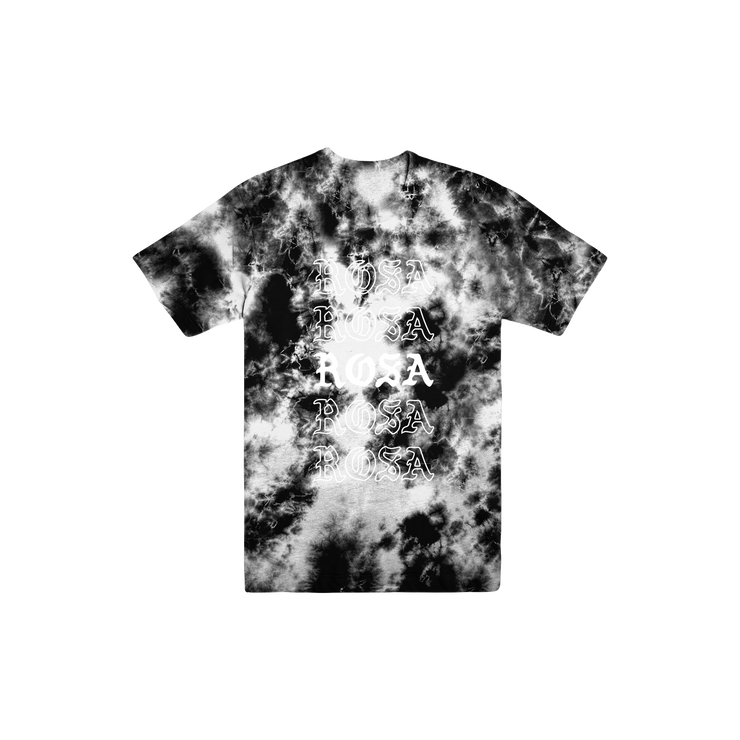 Rosa Repeating Tee - Black Crystal