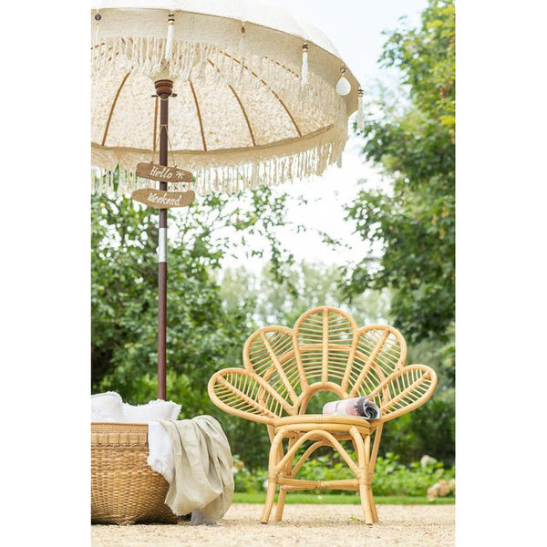Luxe Ibiza parasol wit L