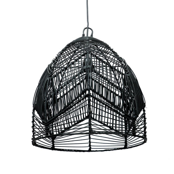 De Medium Bala Hanglamp Zwart & Naturel-lamp-Bazar Bizar