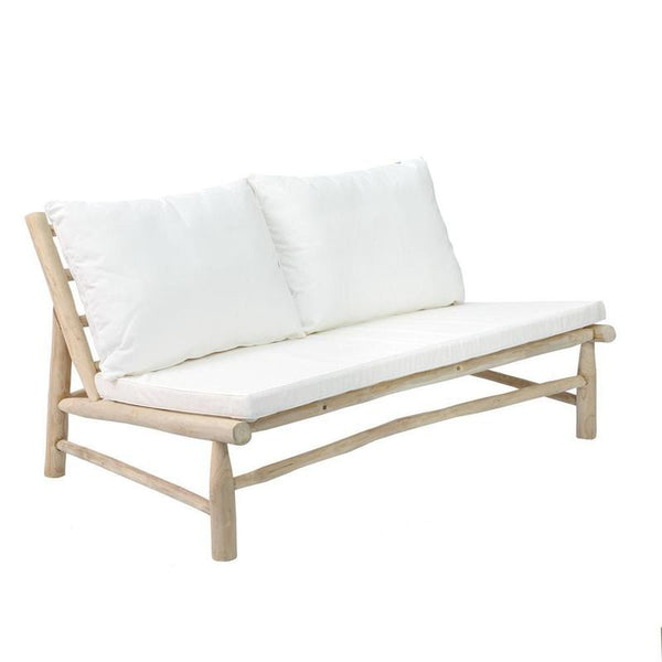 Teakhouten bank 'The Island Two Seater'-Tuinaccessoires-Bazar Bizar-Wit-Ik Hout ervan.