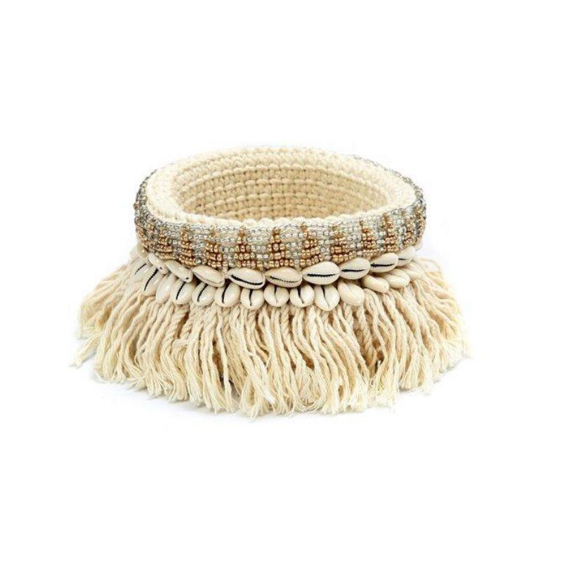 The Gold and Silver Macrame Planter - Natural Gold Silver-Woonaccessoires-Bazar Bizar-Ik Hout ervan.