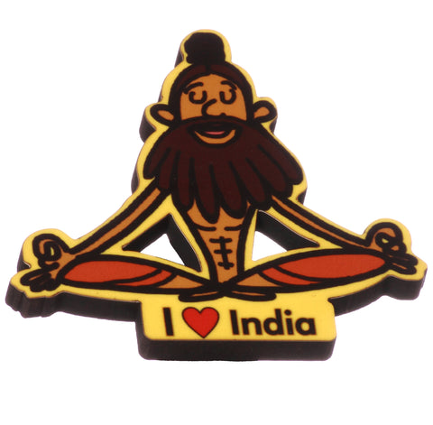 Indian Yogi Magnet