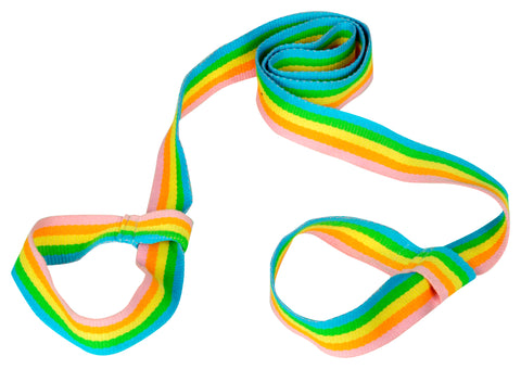 Rainbow Yoga Mat Cotton Strap