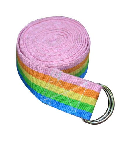 Rainbow Yoga Asana Cotton Strap