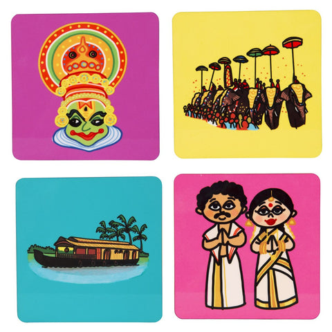 Kerala Coaster Set of 4