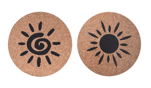 Sun Cork Trivet Set of 2