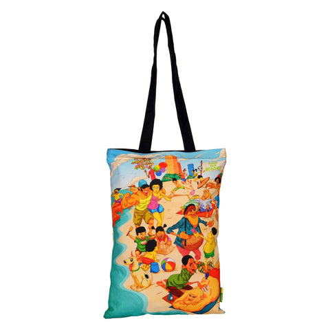 Beach Cotton Tote Bag