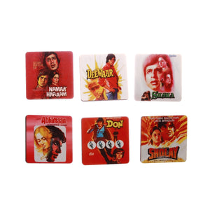 Amitabh Bachchan Movies Coaster set