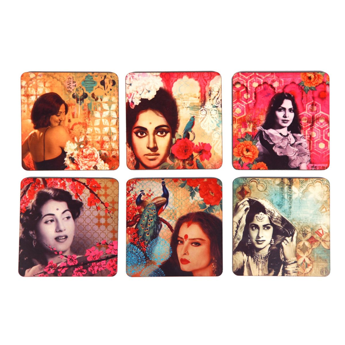 Bollywood Dream Girls Coaster Set