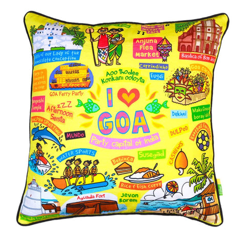 Coloured Goa Cushion Cover