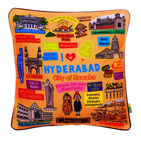 Coloured Hyderabad Cushion Cover