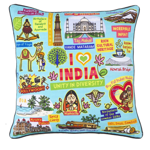 Coloured India Cushion Cover