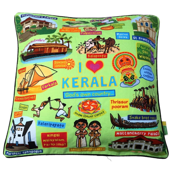 Coloured Kerala Cushion Cover