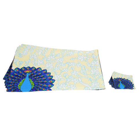 Dancing Peacock Table Mat Set of 6