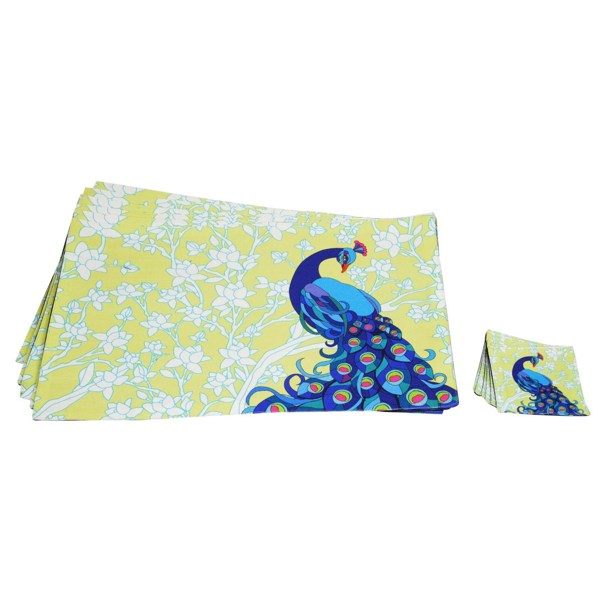 Elegant Peacock Table Mat Set of 6