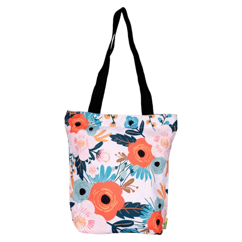 English Flower RPET Tote Bag