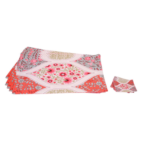 Floral Table Mat Set of 6