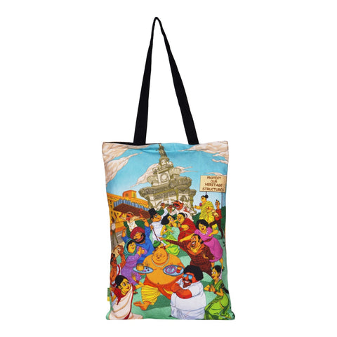 Fountain Cotton Tote Bag