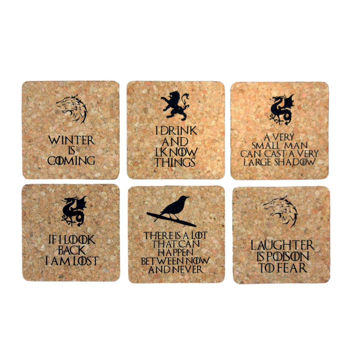GOT FUN Cork Coaster Set