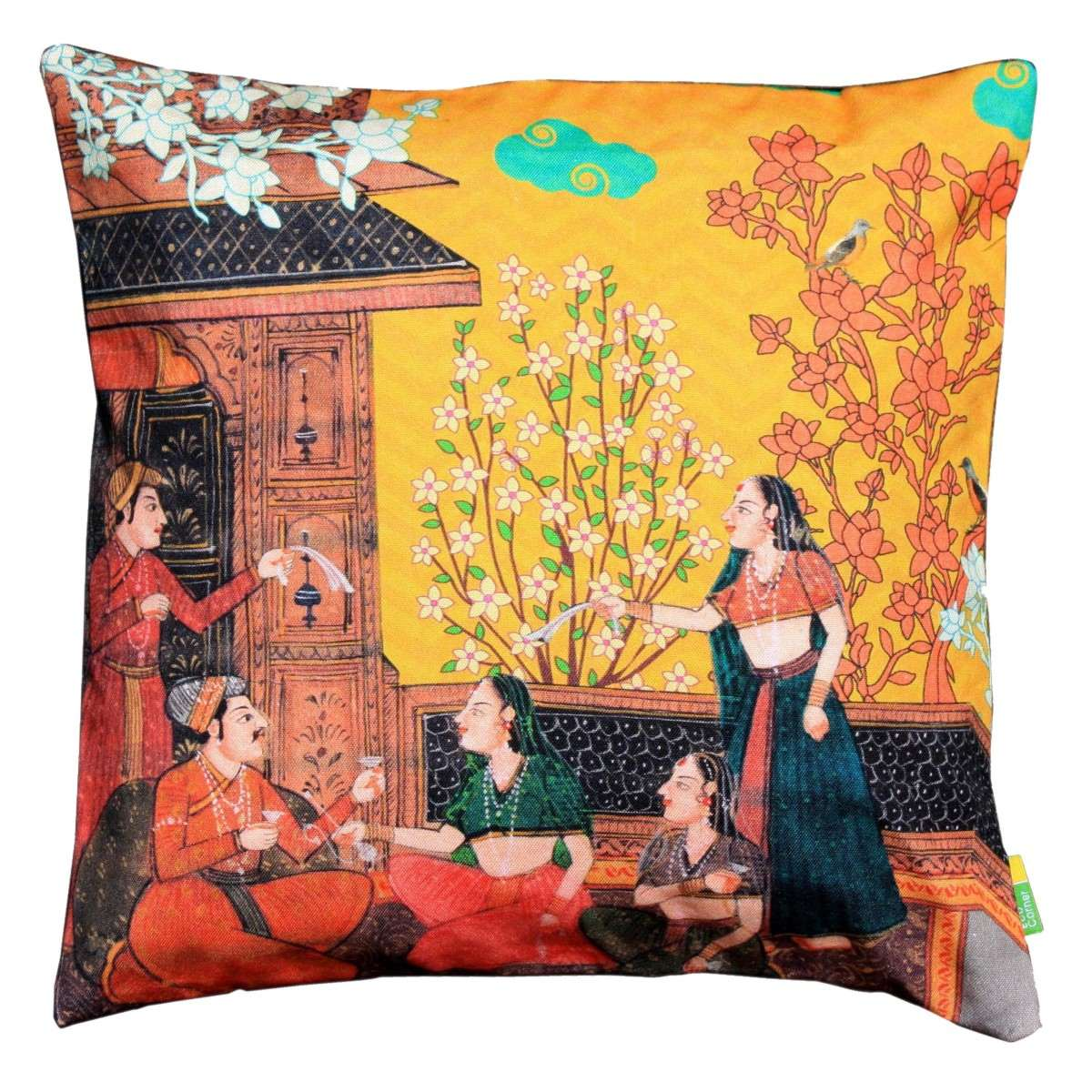 Indian Art Balcony Cushion Cover