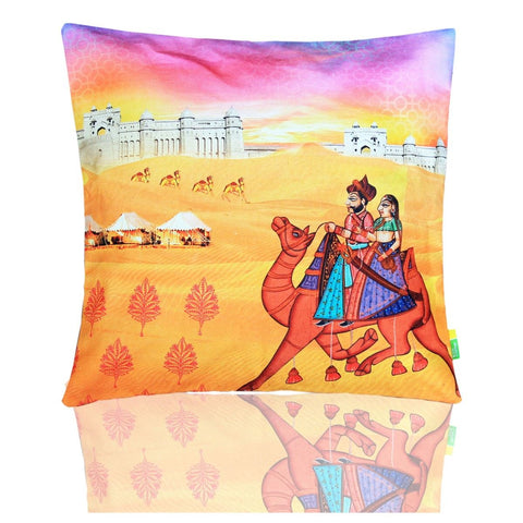 Indian Art Camel Cushion Cover