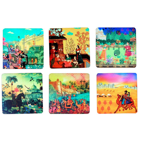 Indian Art Coaster Set