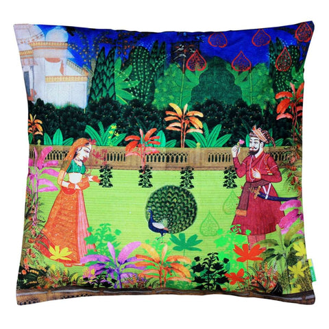 Indian Art Garden Cushion Cover