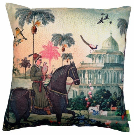 Indian Art Horse Cushion Cover