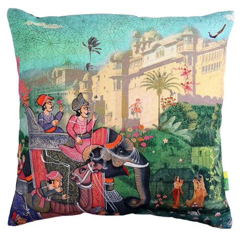 Indian Art Palace Cushion Cover