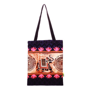 Small Indian Elephant Cotton Bag