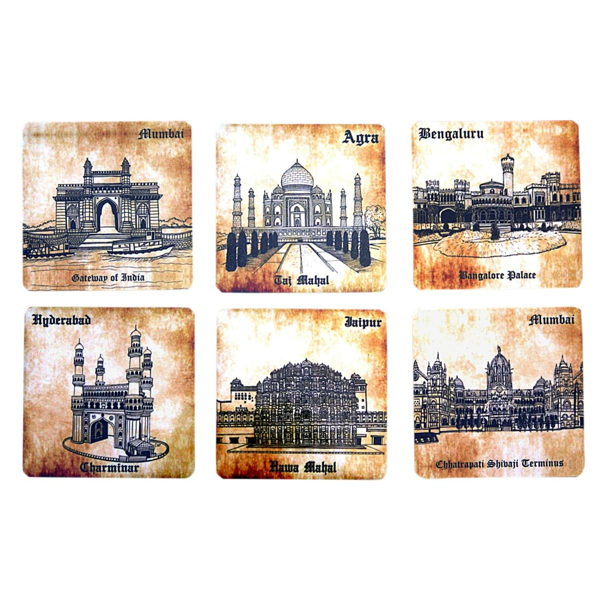 Indian Heritage Coaster Set