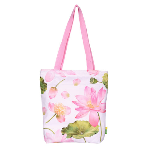 Lotus Flower RPET Tote Bag