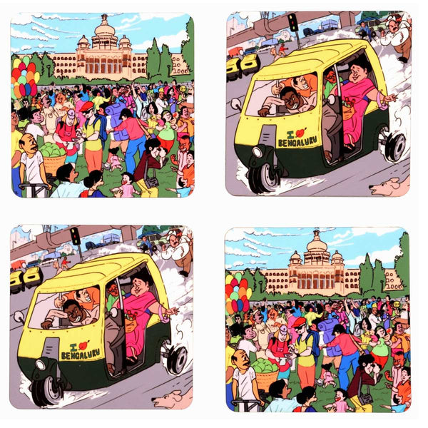 Namma Bengaluru Coaster Set of 4
