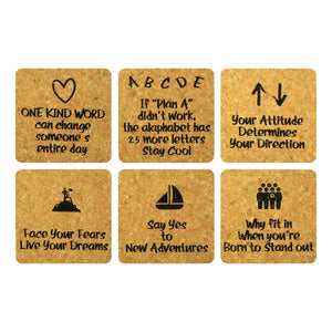 Quotes Cork Coaster Set